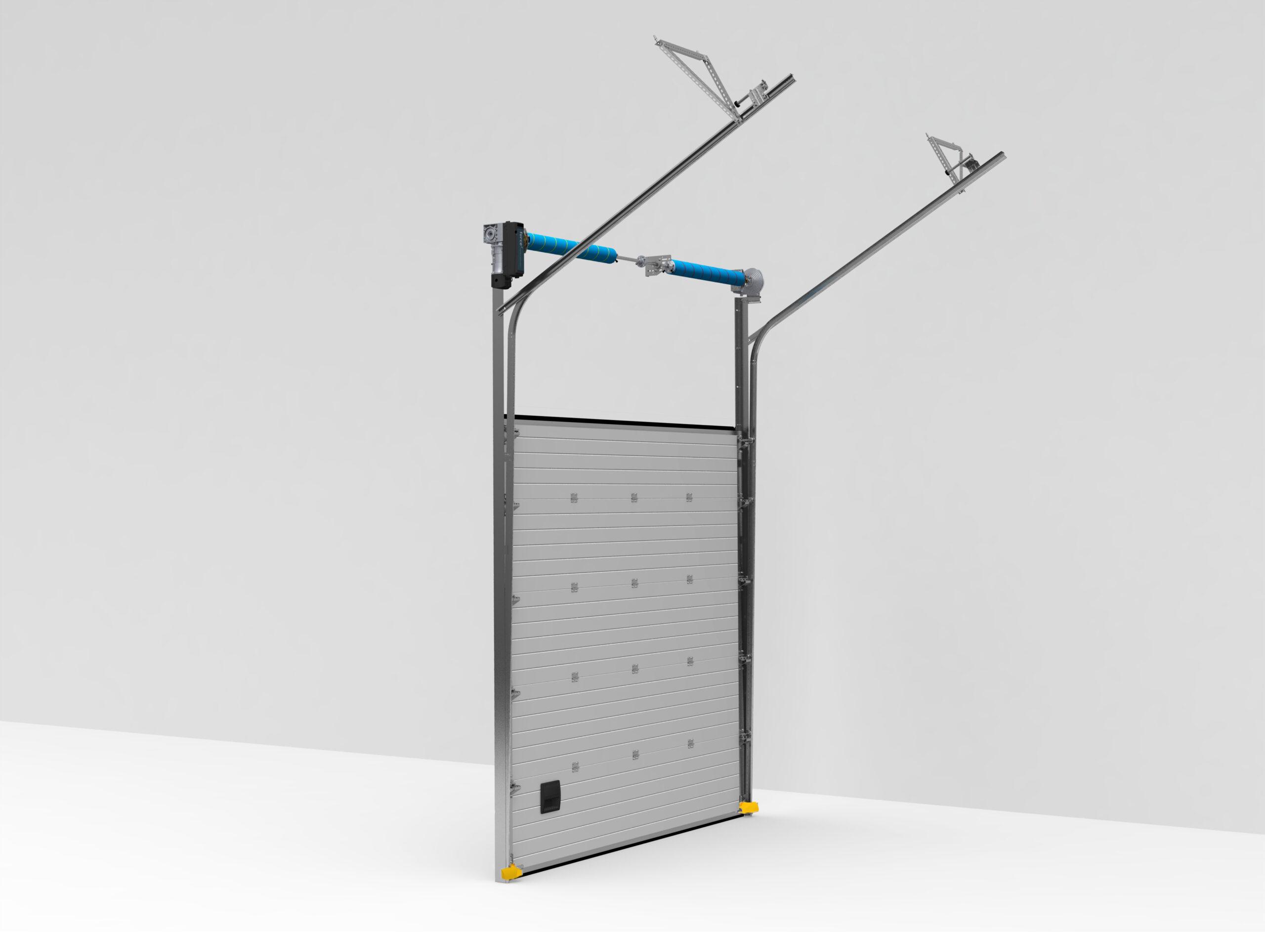 Seksiyonel Endüstriyel Kapı Yüksek Yataklama Çatı Eğimli