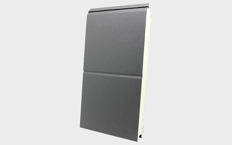 wrinkle orta oluklu antrasit gri ral 7016 sandviç panel