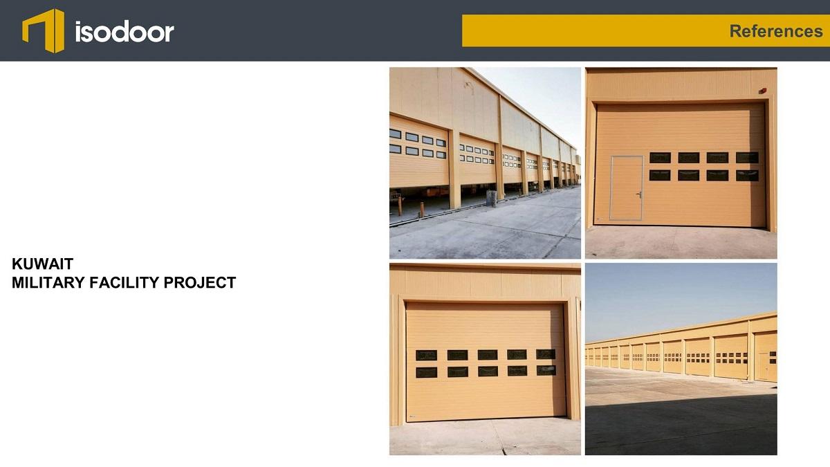 isodoor sectional industrial garage door references